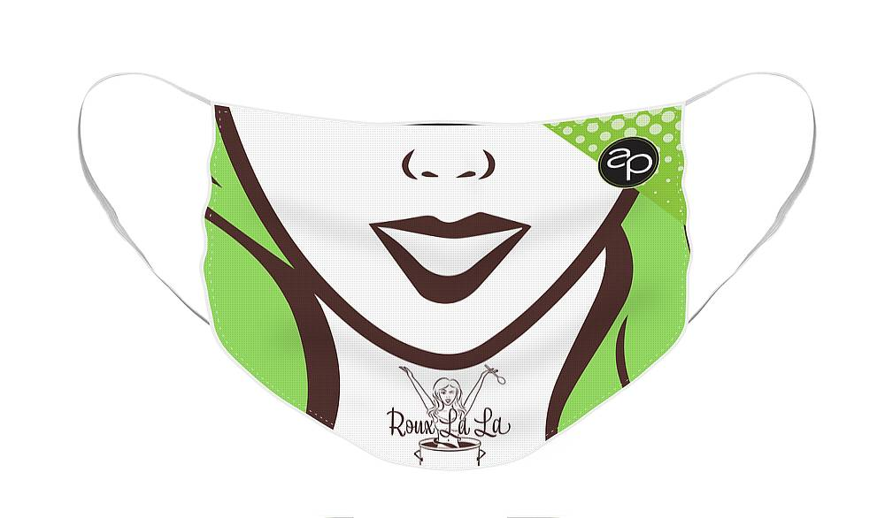 Mew Orleans Face Mask featuring the digital art Roux La La by Art of the Parade Society