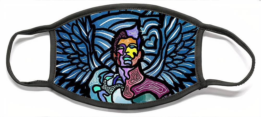 Angels Face Mask featuring the digital art Sanctuary by Marconi Calindas