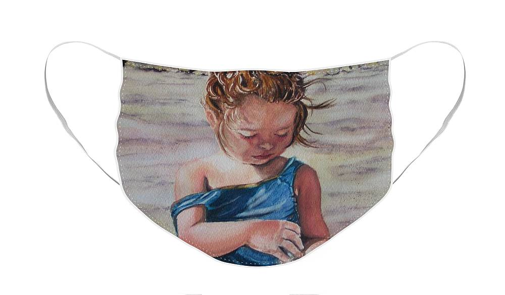 Beach Face Mask featuring the painting Sand by Karen Ilari