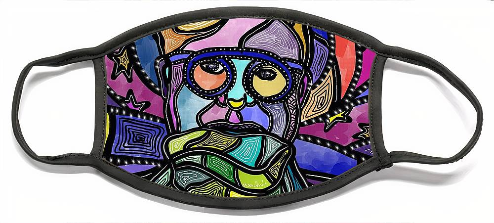 Scarf Face Mask featuring the digital art Scarf Love 1 by Marconi Calindas