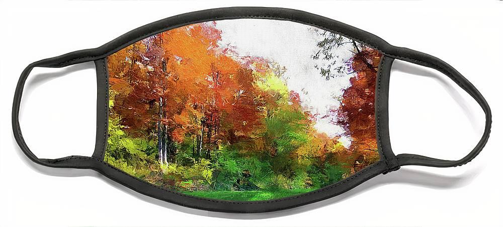 Landscape Face Mask featuring the photograph Sentimental Autumn by Cedric Hampton