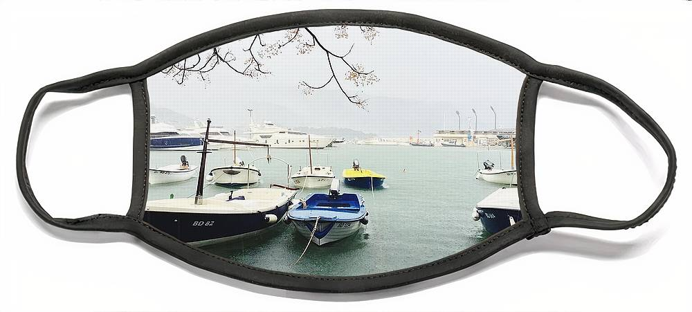 Boat Face Mask featuring the photograph Serenity by Arden Chua