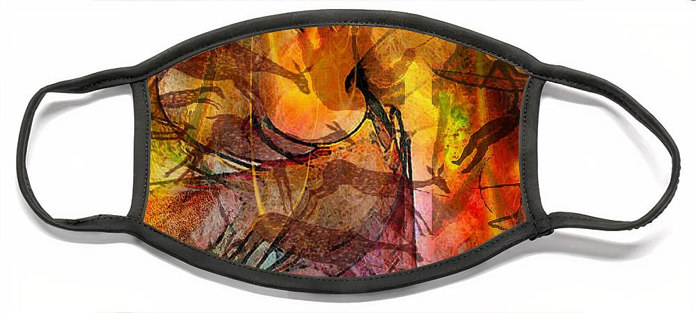 Shadow Hunters Face Mask featuring the digital art Shadow Hunters by John Robert Beck