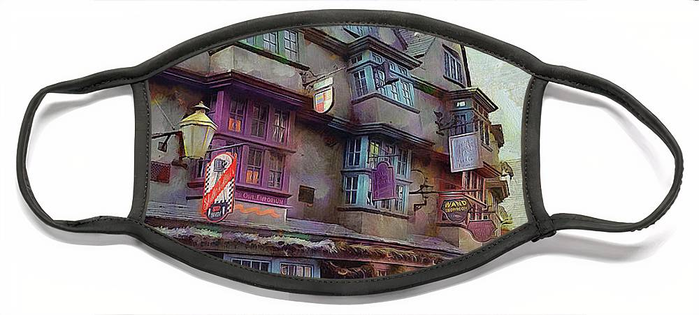 Diagon Alley Face Mask featuring the photograph Shops Of Diagon Alley by Cedric Hampton