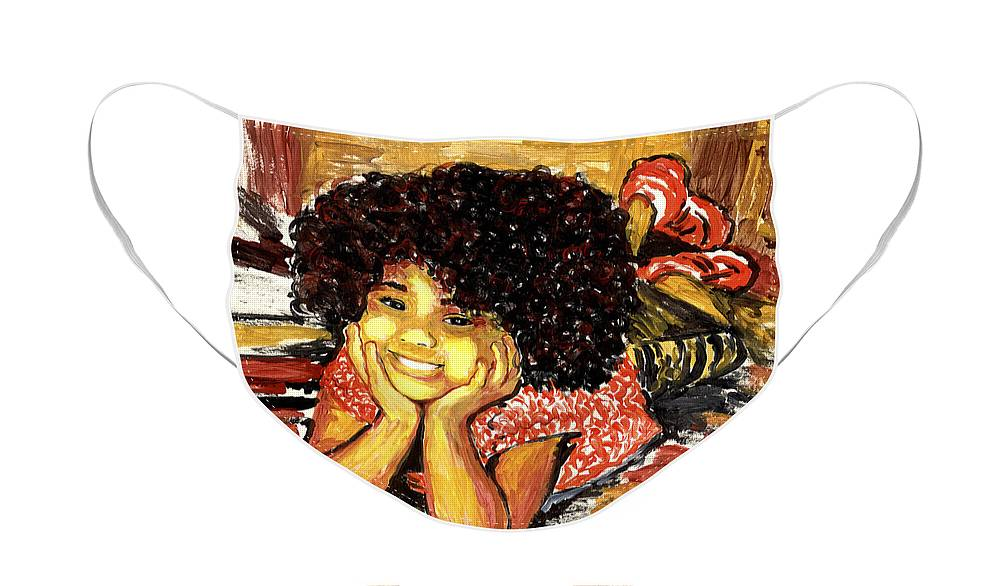 Everett Spruill Face Mask featuring the painting Simone by Everett Spruill