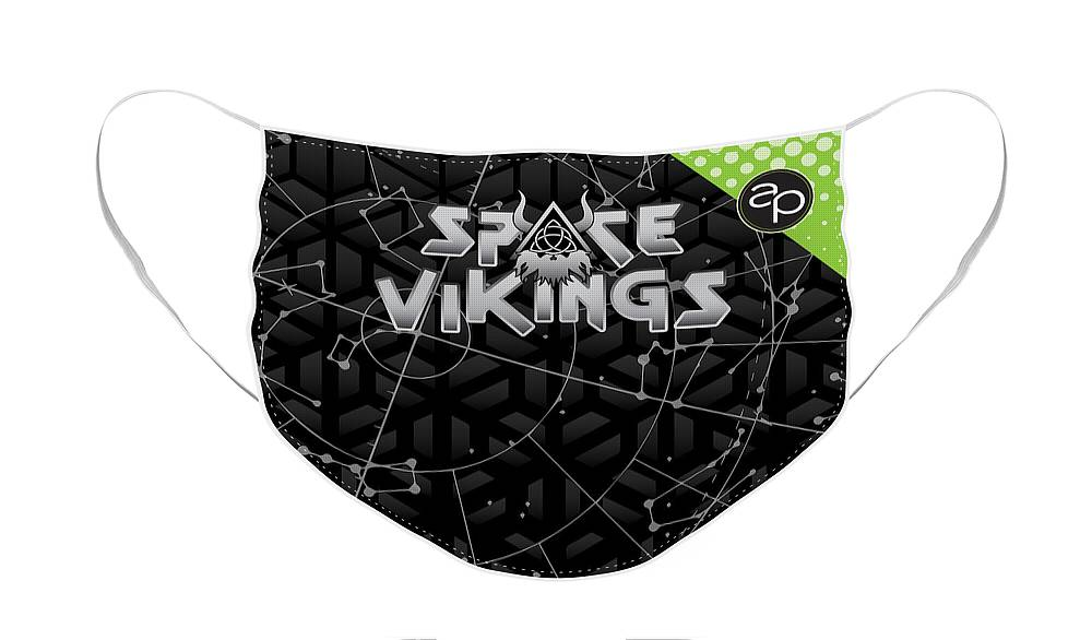 Art Of The Parade Society Face Mask featuring the digital art Space Vikings by Art of the Parade Society
