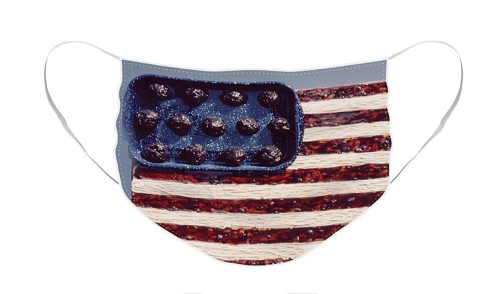 Czappa Face Mask featuring the relief Speggetti Flag by Bill Czappa