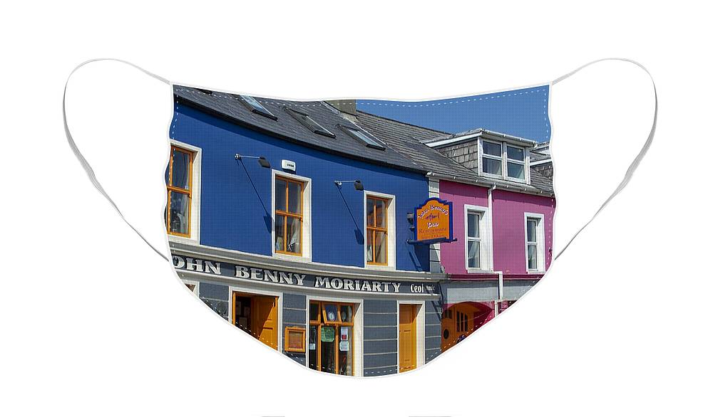 Irish Face Mask featuring the photograph Strand Street in Dingle Ireland by Teresa Mucha