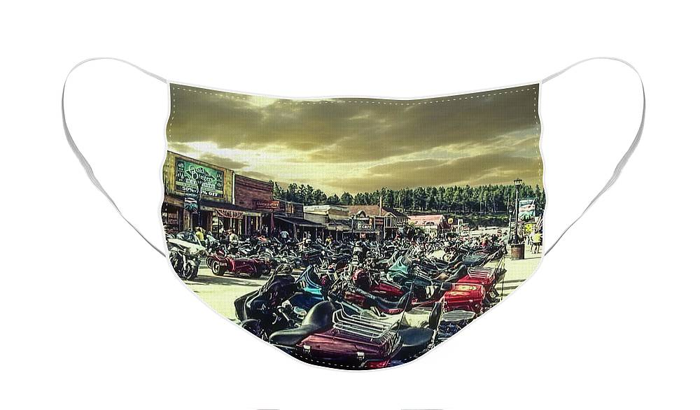 Sturgis Face Mask featuring the photograph Sturgis Week by Mike Braun
