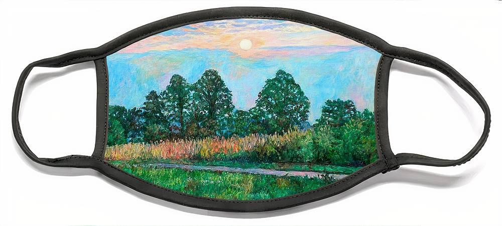 Kendall Kessler Face Mask featuring the painting Sunset Near Fancy Gap by Kendall Kessler