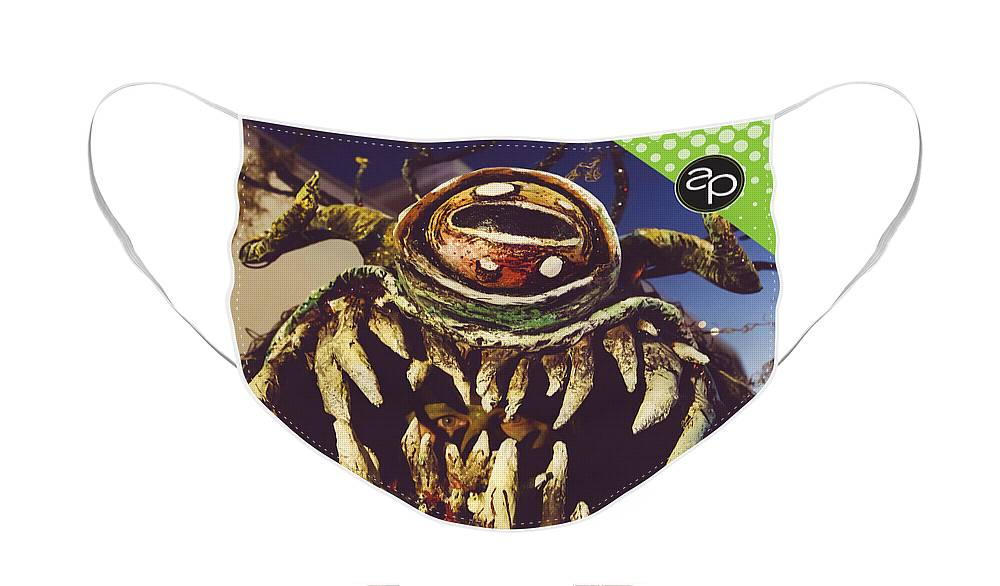 New Orleans Face Mask featuring the digital art Swampus by Art of the Parade Society