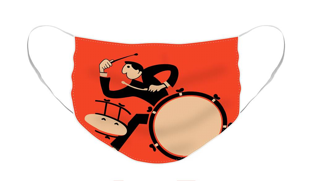 Drum Face Mask featuring the photograph The Drummer by Mark Rogan