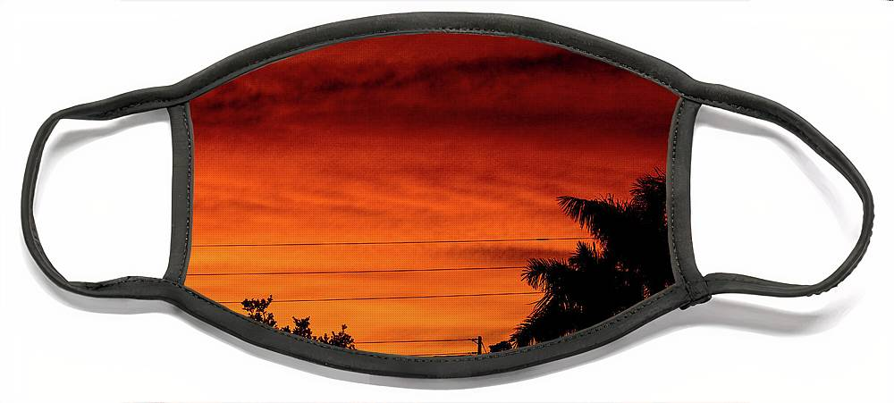 Sunset Face Mask featuring the photograph The Fire sky by Daniel Cornell