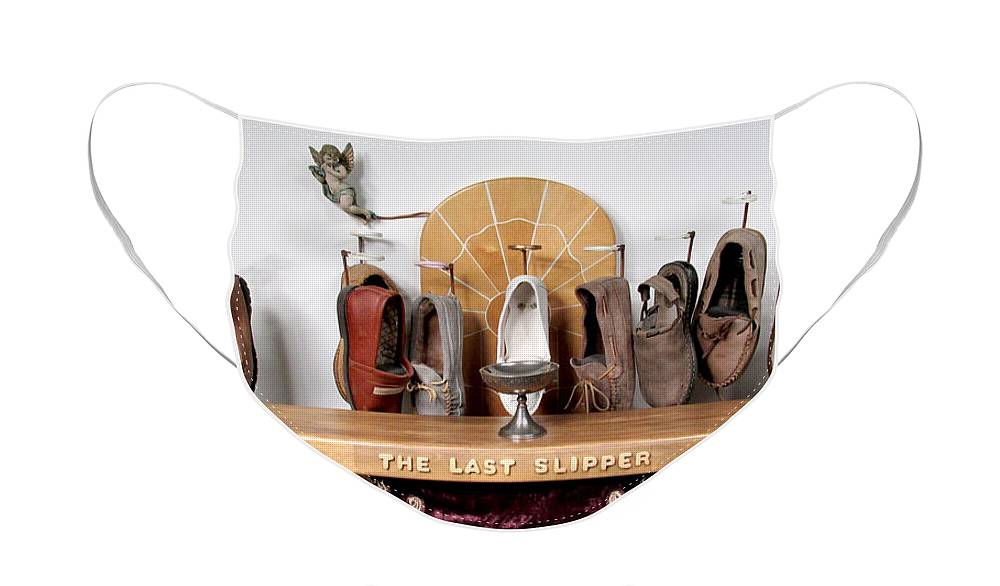 Czappa Face Mask featuring the sculpture The Last Slipper by Bill Czappa