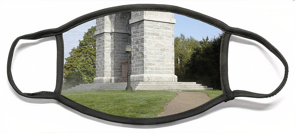 Landscape Face Mask featuring the photograph Titus Arch Replica - Northfield NNew Hampshire by Erin Paul Donovan