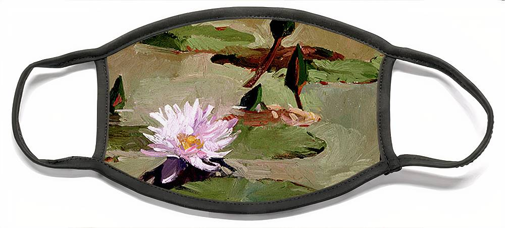 Water Lily Paintings Face Mask featuring the painting Tomorrow's Blooms- Water Lilies by Betty Jean Billups