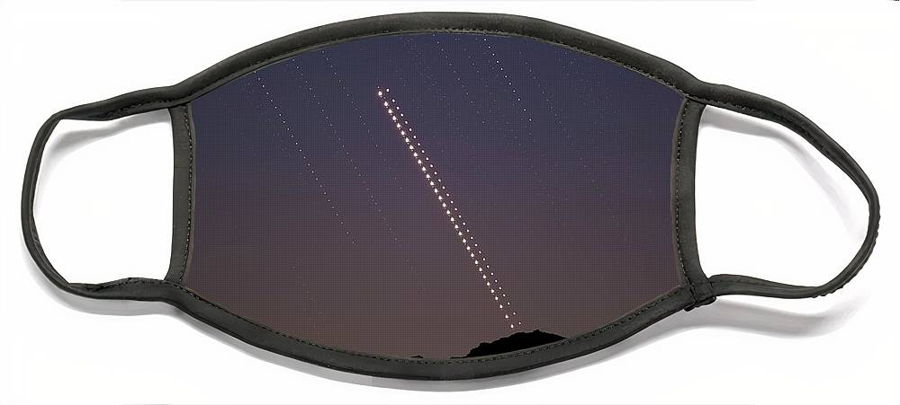 Face Mask featuring the photograph Trails of the Great Planetary Conjunction by Prabhu Astrophotography