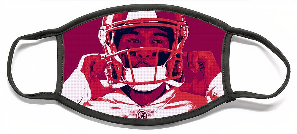 Tua Face Mask featuring the painting Tua by Jack Bunds