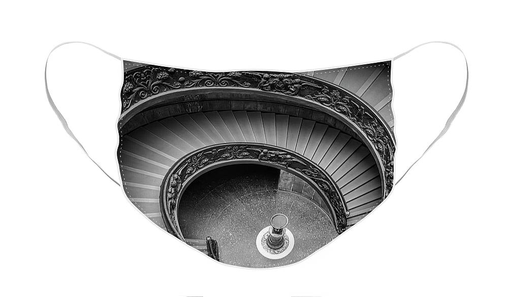 3scape Face Mask featuring the photograph Vatican Stairs by Adam Romanowicz
