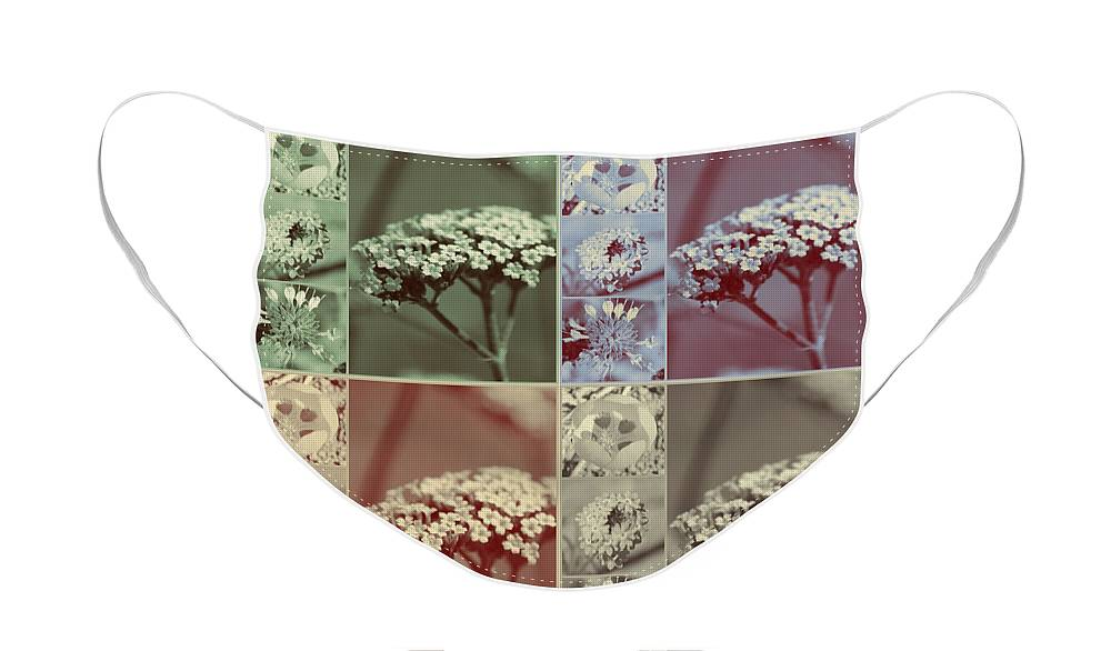 Vintage Retro Flower Collage Face Mask