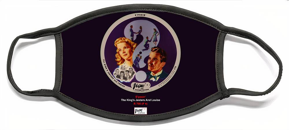 Vogue Picture Record Face Mask featuring the digital art Vogue Record Art - R 708 - P 4 by John Robert Beck