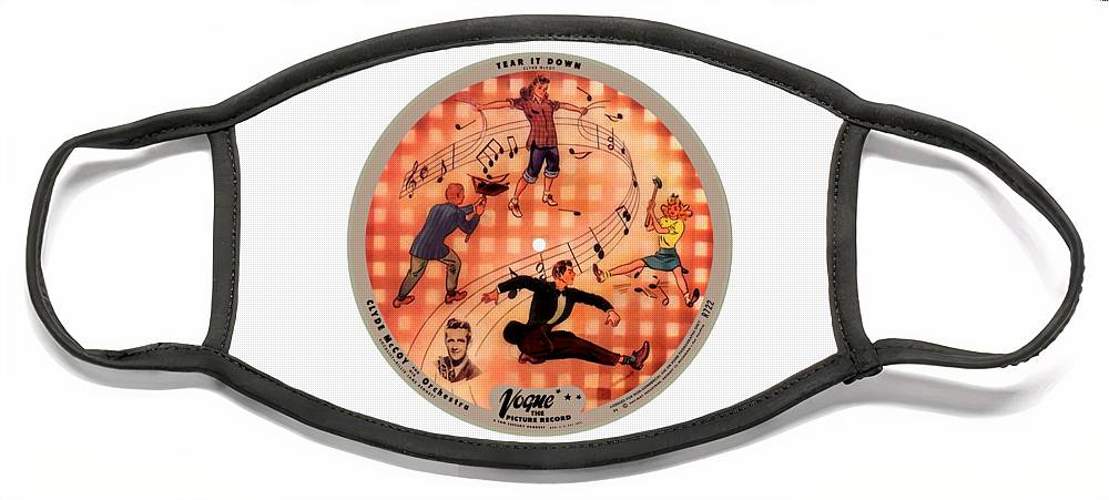 Vogue Picture Record Face Mask featuring the photograph Vogue Record Art - R 722 - P 6 - Square Version by John Robert Beck