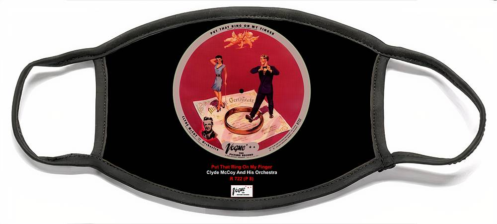 Vogue Picture Record Face Mask featuring the digital art Vogue Record Art - R 722 - P 8 by John Robert Beck