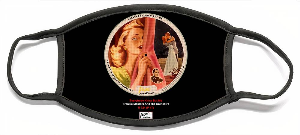 Vogue Picture Record Face Mask featuring the digital art Vogue Record Art - R 724 - P 47 by John Robert Beck