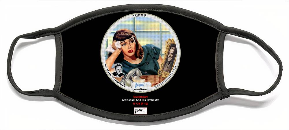 Vogue Picture Record Face Mask featuring the digital art Vogue Record Art - R 734 - P 12 by John Robert Beck