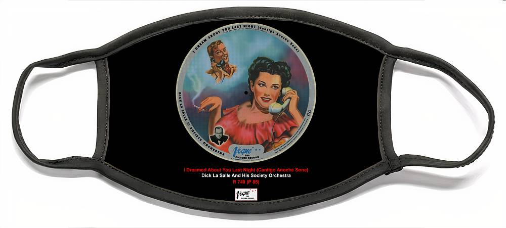 Vogue Picture Record Face Mask featuring the digital art Vogue Record Art - R 740 - P 85 by John Robert Beck