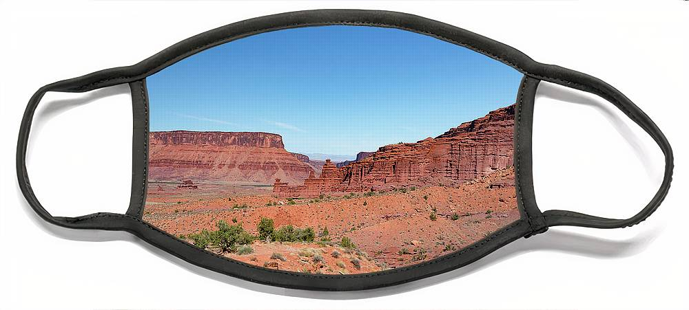 Fisher Towers Face Mask featuring the photograph Wild Utah Landscape by Jim Thompson