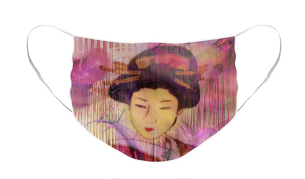 Willow World Face Mask featuring the digital art Willow World by John Robert Beck