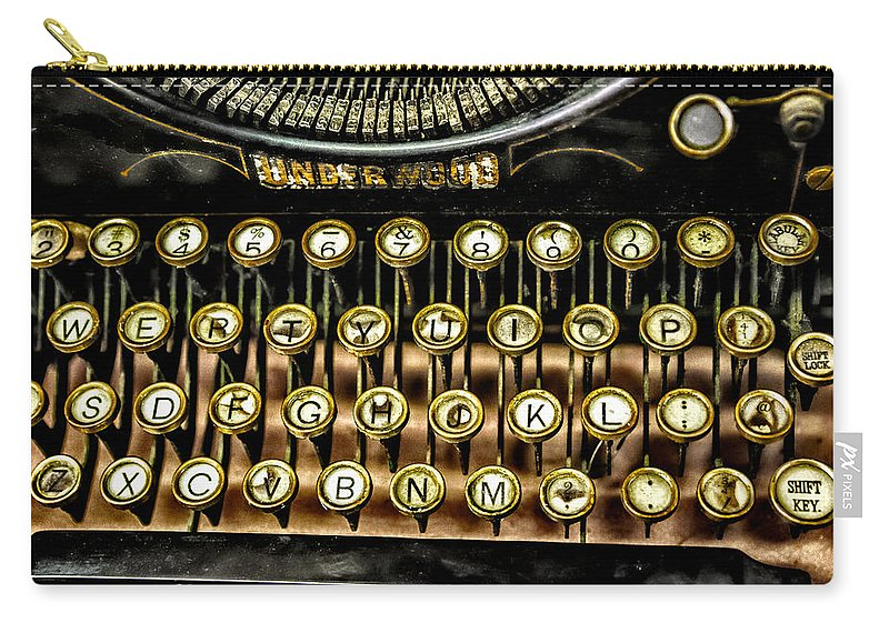 Christopher Holmes Photography Carry-all Pouch featuring the photograph Antique Keyboard by Christopher Holmes