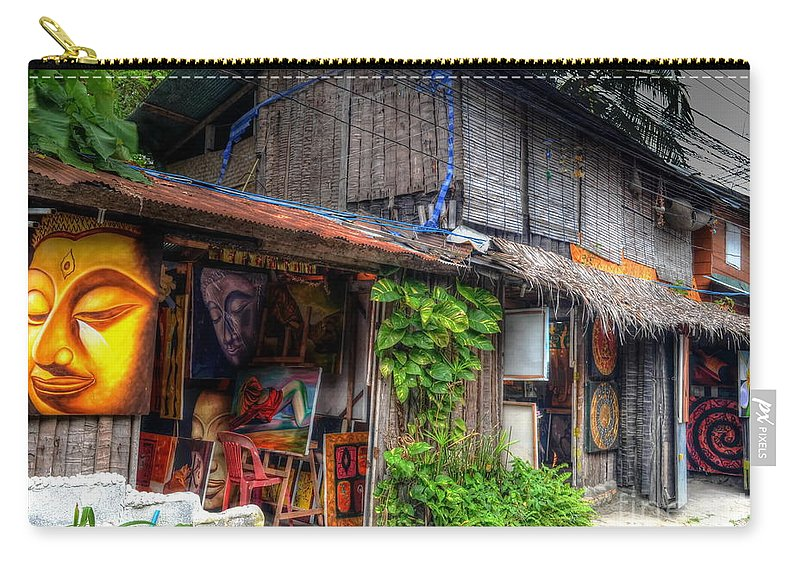 Michelle Meenawong Carry-all Pouch featuring the photograph Art Shop by Michelle Meenawong