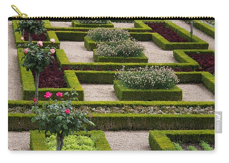 Cabbage Carry-all Pouch featuring the photograph Cabbage Garden Chateau Villandry by Christiane Schulze Art And Photography