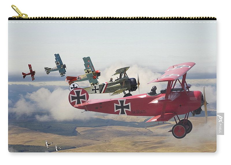 Aircraft Carry-all Pouch featuring the digital art Circus Comes To Town by Pat Speirs