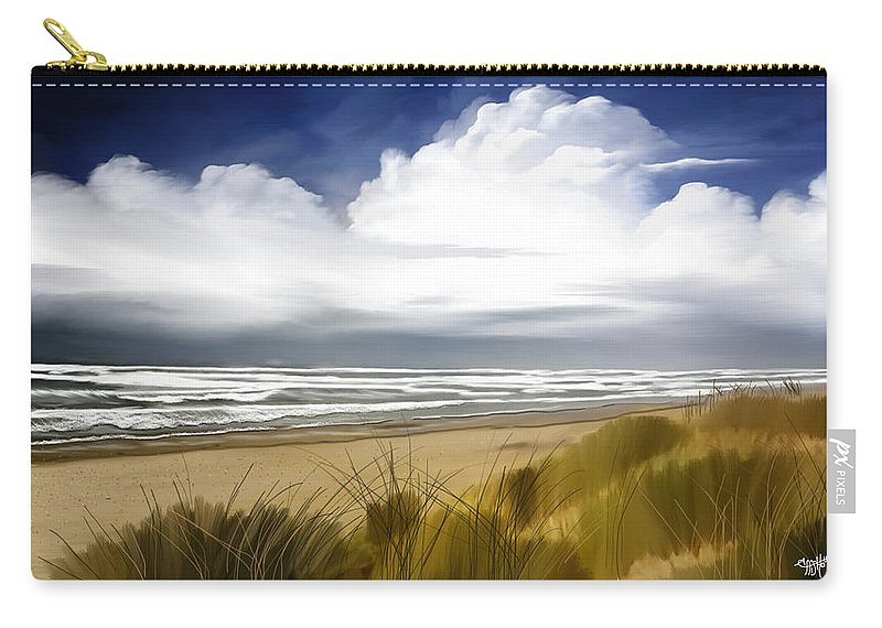 Seascape Carry-all Pouch featuring the digital art Coastal Breeze by Anthony Fishburne