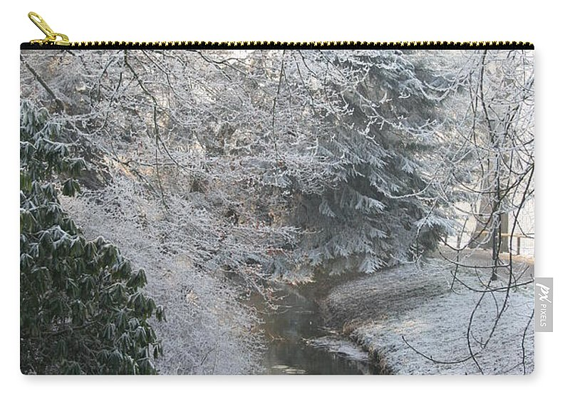 Snow Carry-all Pouch featuring the photograph Creek Reflection by Christiane Schulze Art And Photography