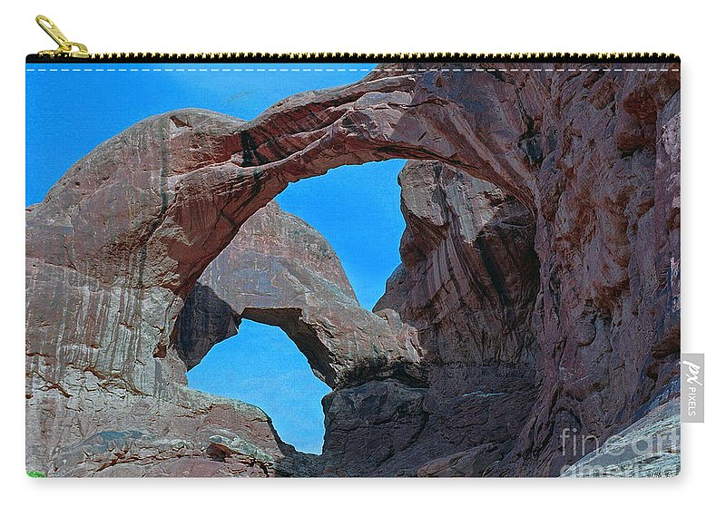 Double Arch - Arches National Park Carry-all Pouch featuring the photograph Double Arch - Arches National Park by Yefim Bam
