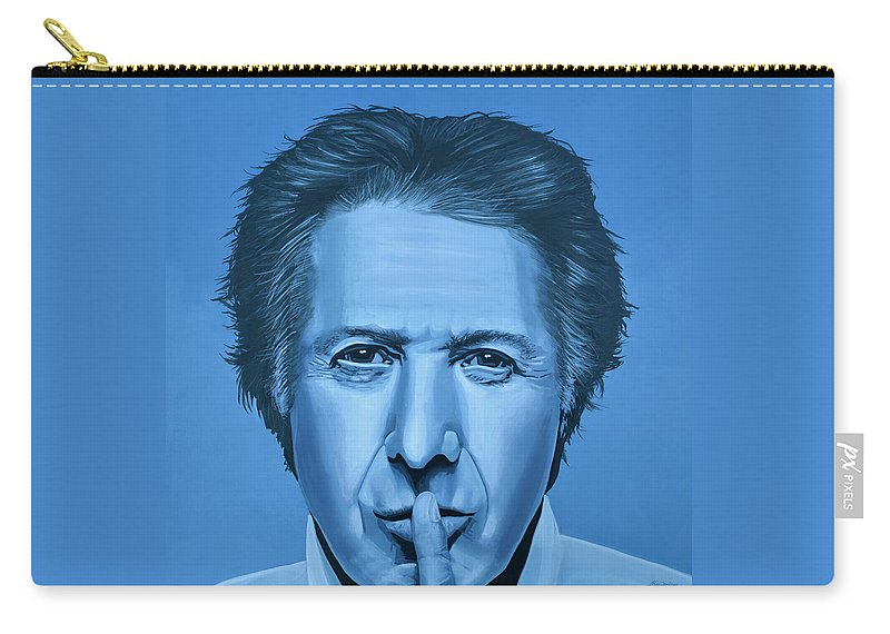Dustin Hoffman Carry-all Pouch featuring the painting Dustin Hoffman Painting by Paul Meijering