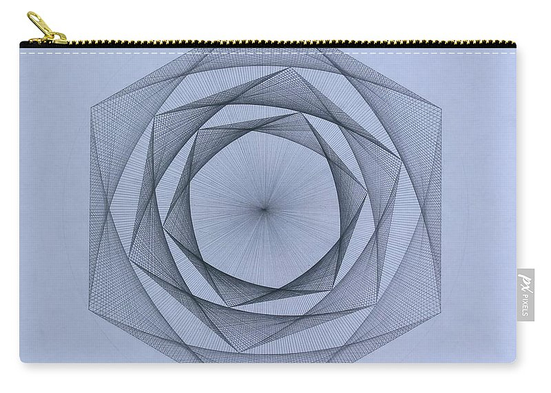 Jason Padgett Carry-all Pouch featuring the drawing  Energy Spiral by Jason Padgett