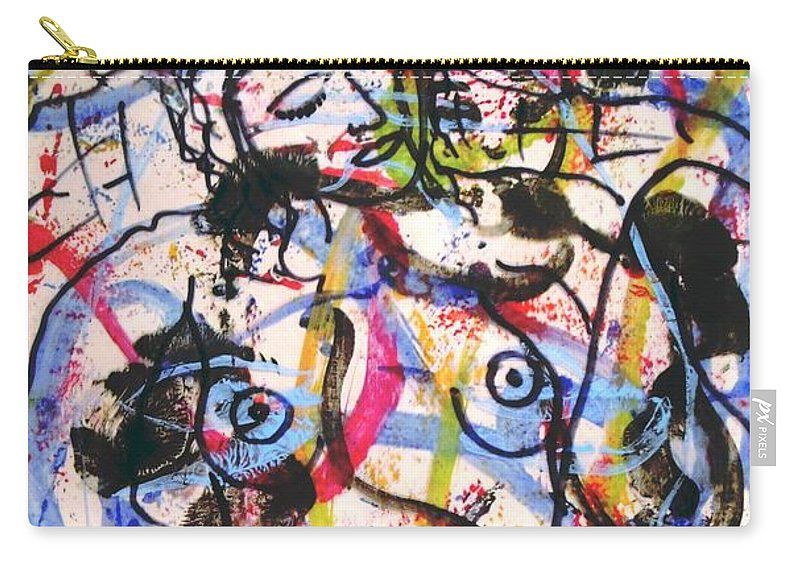 Erotic Carry-all Pouch featuring the painting  Erotic Nude by Natalie Holland