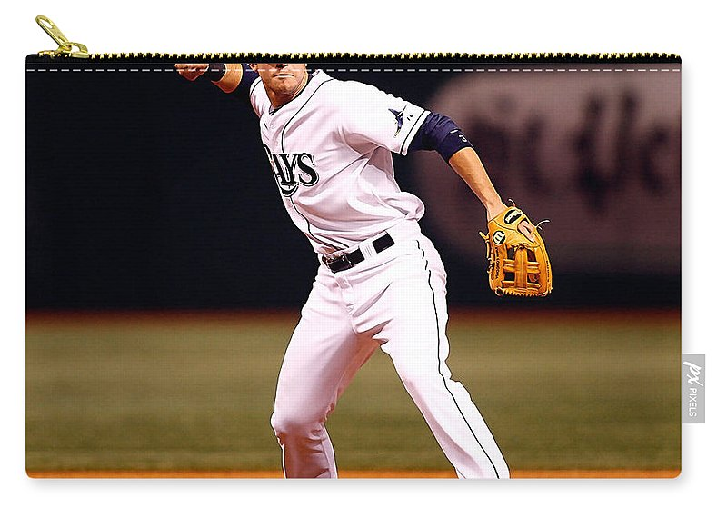 Home Art Carry-all Pouch featuring the photograph Evan Longoria by Marvin Blaine