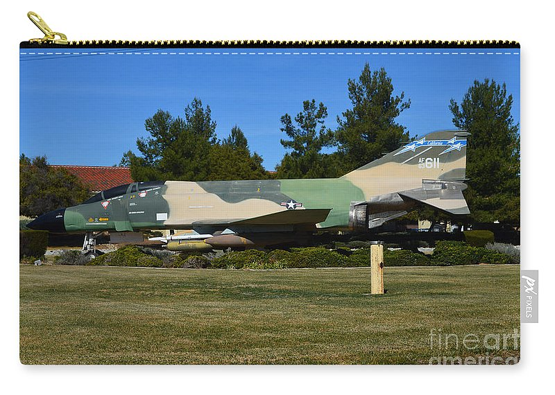 Mcdonnell Douglas Carry-all Pouch featuring the photograph F-4c Phantom II Cang by Tommy Anderson