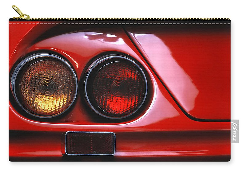 Amber Carry-all Pouch featuring the photograph Ferrari Red by David and Carol Kelly