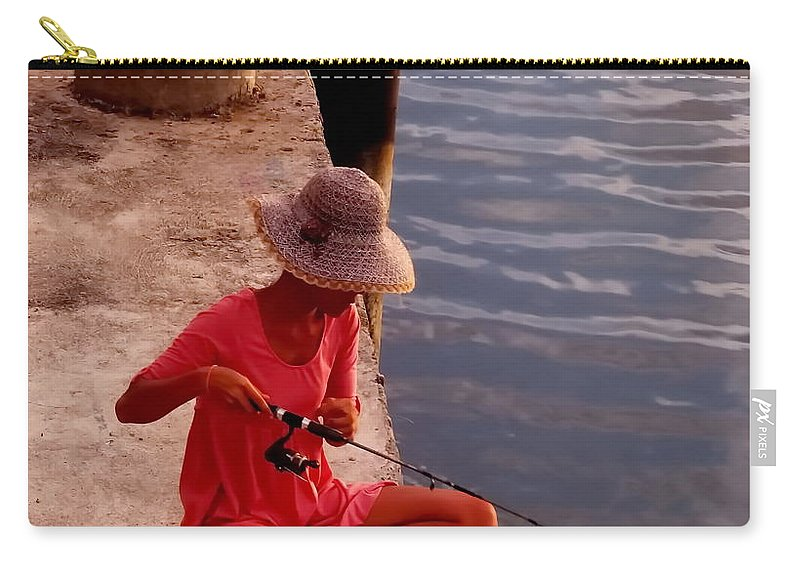 Michelle Meenawong Carry-all Pouch featuring the photograph Fishing by Michelle Meenawong