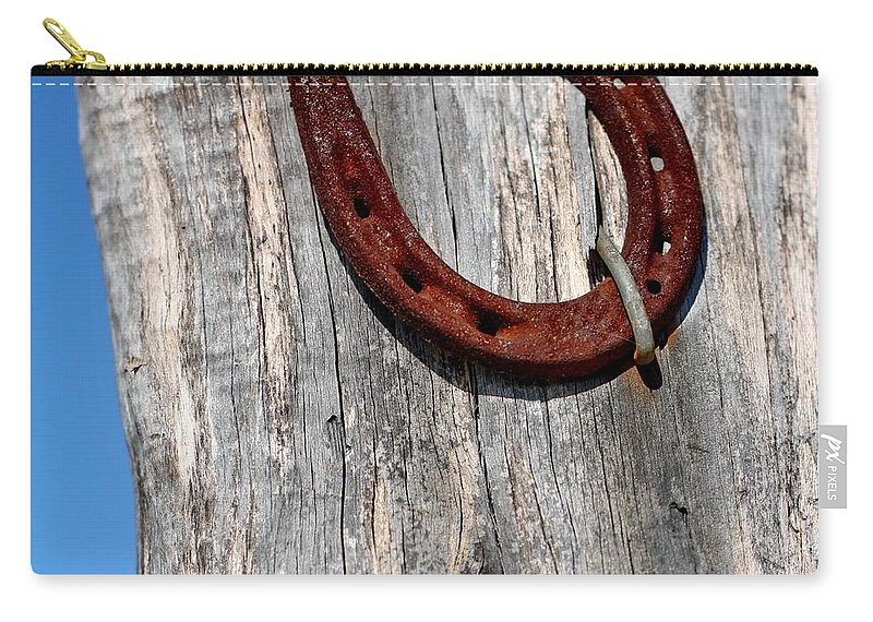 Horseshoe Carry-all Pouch featuring the photograph Good Luck by Terry Fleckney