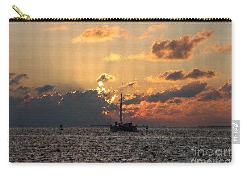 Sunset Carry-all Pouch featuring the photograph Marelous Key West Sunset by Christiane Schulze Art And Photography