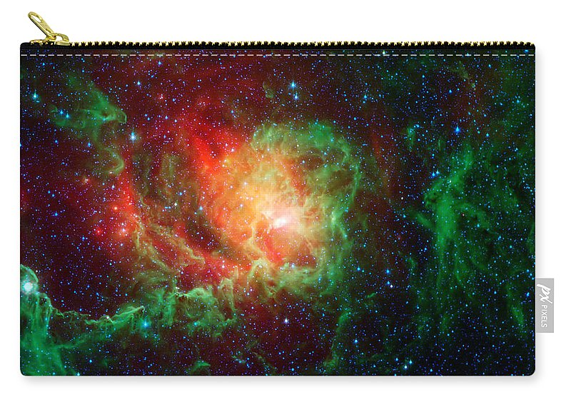 Lagoon Nebula Carry-all Pouch featuring the photograph Lagoon Nebula by Jennifer Rondinelli Reilly - Fine Art Photography