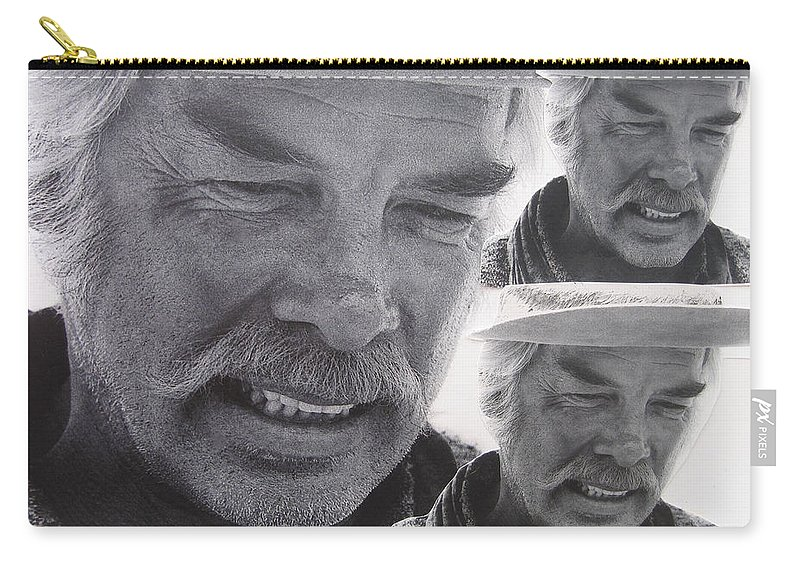 Lee Marvin Monte Walsh Variation #3 Collage Old Tucson Arizona John Wayne Jack Schaefer Shane George Stevens Carry-all Pouch featuring the photograph Lee Marvin Monte Walsh Variation #3 Collage Old Tucson Arizona 1969-2012 by David Lee Guss